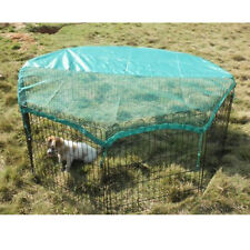 "New 8 Panel 24"" Pet Playpen w/Door & Cover Rabbit Enclosure Dog Cat"