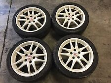 "JDM Honda Integra DC5 Type R 5 Lug 17"" Wheels Rims White DC5R Acura RSX 02+"