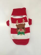 NEW PET LONDON DOG XMAS CLOTHING OUTFIT REINDEER JUMPER SWEATER MEDIUM 10""