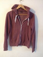 TopShop Jersey Hooded Jacket Size 8 Heather  R9827
