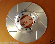 DISC BRAKE ROTORS SLOTTED TO SUIT NISSAN NAVARA D21 D22 2WD V6 4WD FRONT + PADS