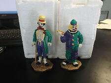 PRINCETON GALLERY RON LEE 1995 CLOWNS ARISTOCRAT & HOT DOG  IN STYROFOAM BOX