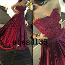 New Burgundy Lace Quinceanera Dress Ball Gown Prom Party Pageant Wedding Dresses