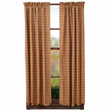 New Country Primitive Rustic Wine Tan Burgundy Panels Drapes Window Curtain