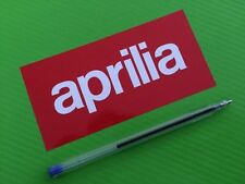 Aprilia grandes Calcomanías Stickers Para Bicicleta de carretera o Carenado Par # 91l