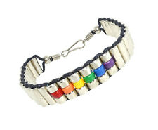 Pride Shack - Upscale Rainbow Steel Beaded Bracelet - LGBT Gay & Lesbian Pride