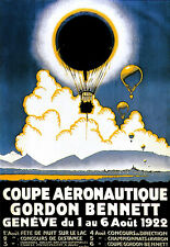 Art Poster - Gordon Bennett - 1922 - Hot Air Balloon Advert  A3 Print