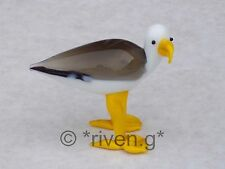 SEAGULL@FIGURINE@Unique@FEATHERED Glass OCEAN BIRD@Collectable@WINGED BEACH bird
