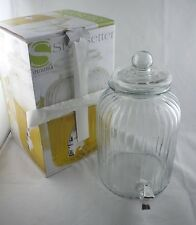 Stylesetter Springfield 1.38 Gallon Glass Beverage Dispenser Sweet Tea Lemonade