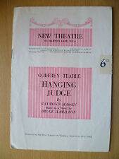 NEW THEATRE PROGRAMME 1952- GODFREY TEARLE HANGING JUDGE by RAYMOND MASSEY