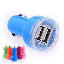 Blue Dual Port USB In Car Charger For iPhone 6S Plus 6S 6 5S 5C 5 4S iPad iPod