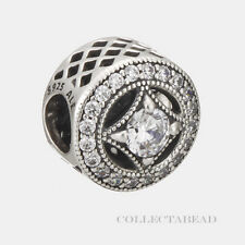 Authentic Pandora Sterling Silver Vintage Allure Clear CZ Bead 791970CZ *SPECIAL