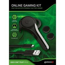 Xbox One Gioteck Gaming Kit mit Headset LPX + 2.5m USB Kabel & Thumb Grips NEU