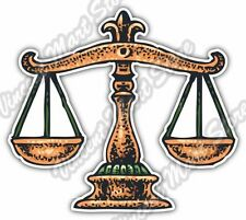 Scales of Justice Lawyer Attorney Law Car Bumper Vinyl Sticker Decal 4.6""