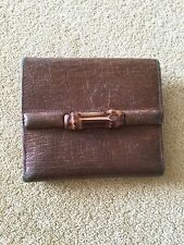 GUCCI leather  purse / wallet brown