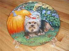 Danbury Mint Yorkshire Terrier Harvest Pup Limied Edition Dog Yorkie Plate