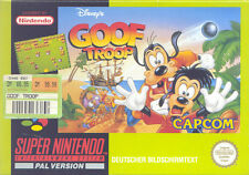SUPER NINTENDO SNES NES Disneys Goof Troop-TOP!!!