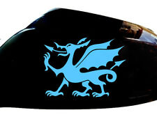 Cymru Welsh Dragon Car Sticker Wing Mirror Styling Decals (Set of 2), Light Blue