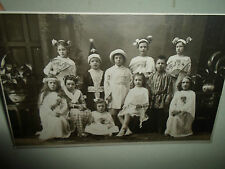 Children Dressed Up for School / Theatre Play ~ Vintage RP Postcard