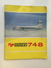 HAWKER SIDDELEY HS748 MANUFACTURES TECHNICAL SALES BROCHURE 1965 CUTAWAY
