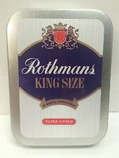 Rothmans King Size Advertising Brand Cigarette Tobacco Storage 2oz Hinged Tin