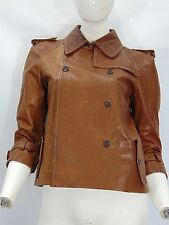 MIU MIU PELLE LEATHER Giacca Giubbino Jacket Cappotto Coat Tg 42 Donna Woman G5