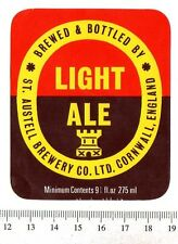 UK Beer Label - St Austell Brewery - Cornwell - Light Ale