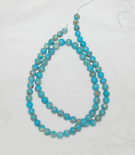 """MEXICAN CAMPITOS TURQUOISE & BOULDER ROUND BEADS - 17.75"""" Strand - 021C"""