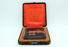VINTAGE JAPANESE KOMAI DAMASCENE MIX METAL SILVER INLAY CIGARETTE CASE
