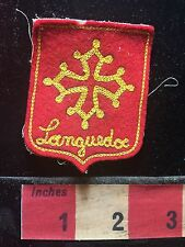 Vintage LANGUEDOC FRANCE Patch Emblem ( Europe Vacation Collectible )  71N