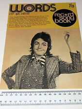WORDS RECORD SONG BOOK JULY 1973 LYRICS TO 31 HITS WINGS T.REX MUD PAUL SIMON