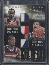 JOHN WALL BEAL ARIZA WIZARDS 2013-14 INTRIGUE TERRIFIC TRIOS TRIPLE PATCH #D /25