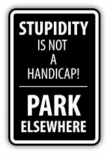 "Park Elsewhere Warning Sign Car Bumper Sticker Decal 4"" x 5"""