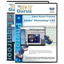 Adobe Photoshop CS5 & Photoshop Lightroom 4 training tutorials 5 DVDs 37 hours