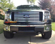 Ford F-150 Bumper 1PC Billet Black Powder Coated Aluminum Grille Grill 09-14