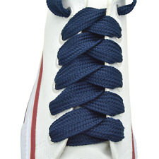 "2 Pairs Flat Thick Shoelaces 3/4"" Wide Shoelaces 35 Colors"