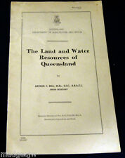 Land and Water Resources Queensland Dept Agriculture and Stock Booklet 1951