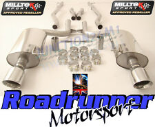 AUDI S4 B6 4.2 V8 CABRIO MILLTEK EXHAUST (03-05) CAT BACK SYSTEM NON RES GT100