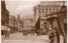 Ranelagh Street Central Railway Station Liverpool unused RP pc