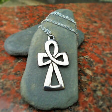 Pewter Celtic Necklace CC15P Tin Content 92%; make ideal 10th anniversary gift