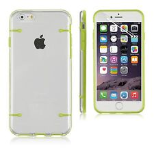 Clear Hard Back Silicone TPU Bumper Cover Case For New Apple iPhone 6 6S