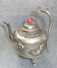fine antique Chinese silver tea pot
