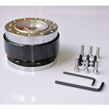 Universal Silver Car Steering Wheel Quick Release Hub Adapter Snap Off Boss Kit