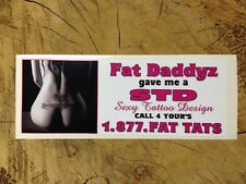 Bumper Sticker Advertising Tattoo Parlor / Shop Naughty Sexy