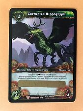 WoW TCG: UNSCRATCHED CORRUPTED HIPPOGRYPH Loot Card Epic Green Flying Mount