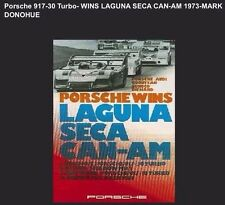 Porsche 917-30 -Turbo Wins Laguna Seca Can-Am 1973 Car Poster Licensed Reprint.