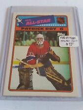 1988-89 Topps Sticker Inserts #12 Patrick Roy : Montreal Canadiens
