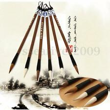 6PCS Chinese Japanese Water Ink Painting Writing Brush Calligraphy Pen Art Tool