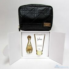 J'Adore by Dior Women's Mini Gift Set: Perfume EDP & Body Milk NIB + Purse
