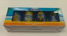 CORONA EXTRA 16 OZ GLASS PINT BEER GLASSES SET OF 4  DIFFERENT DESIGNS NEW BOXED